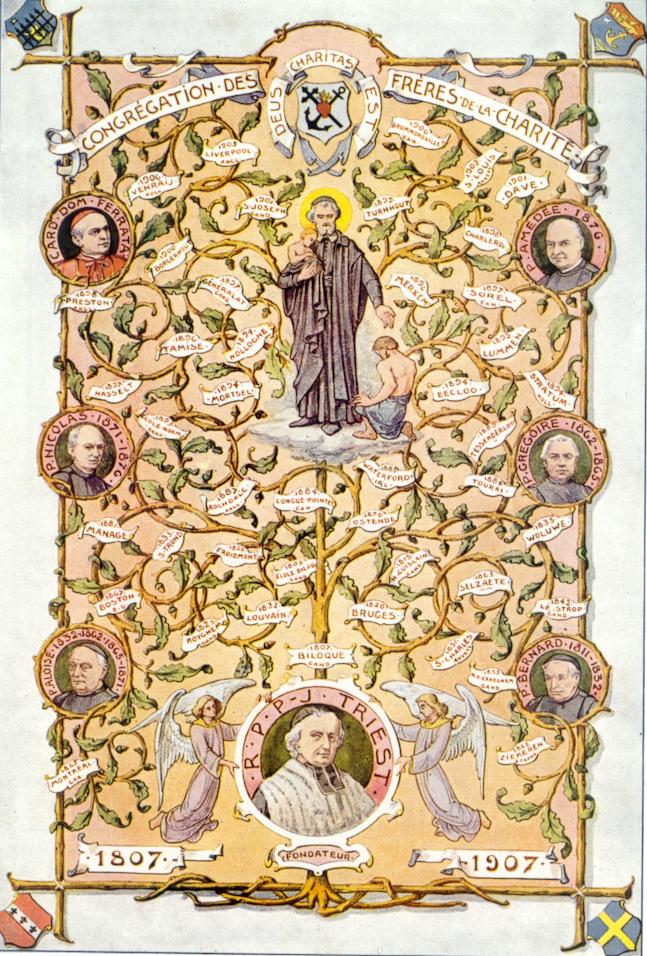"""1807: Oprichting congregatie """"Broeders van Liefde"""""""